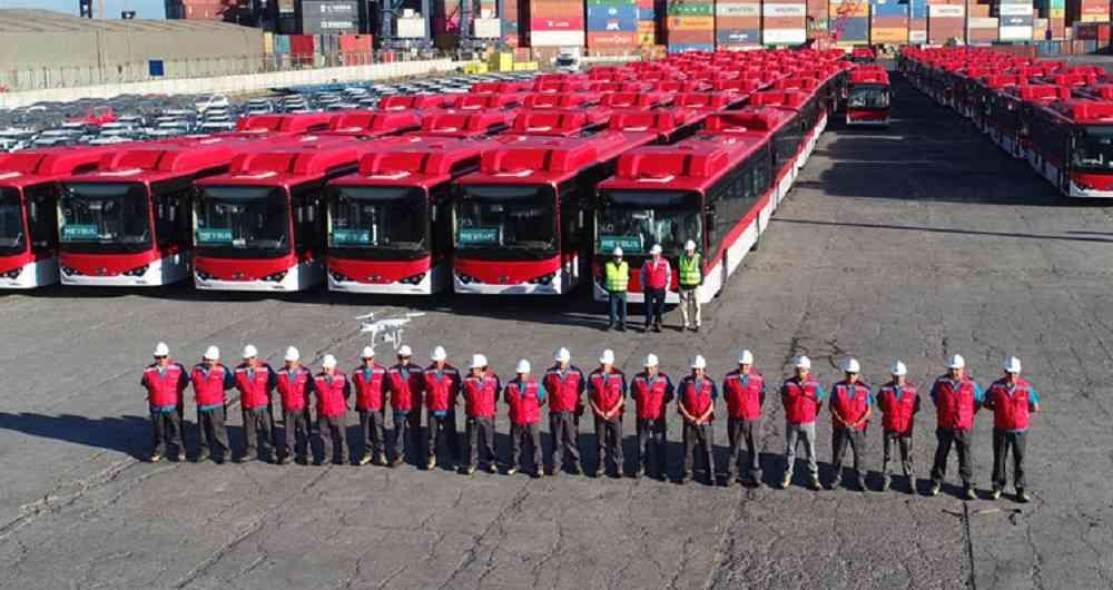 De Shanghái para Santiago: La apuesta de autobuses eléctricos