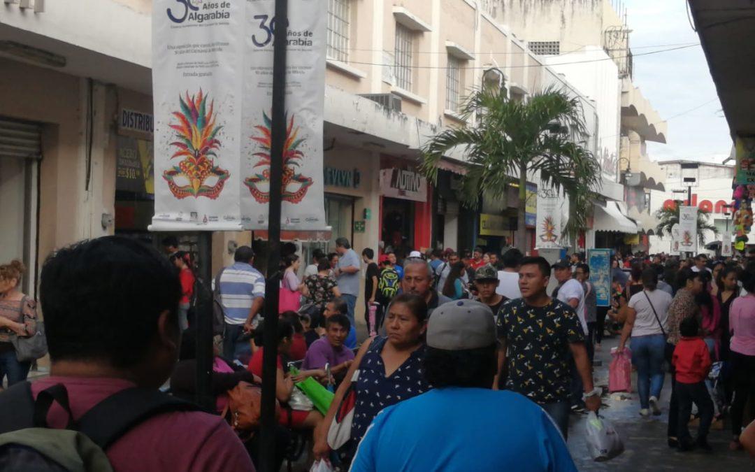 La avalancha humana en el centro de Mérida